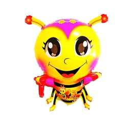Wholesale Manufacturers selling cartoon bee shaped balloon helium air balloons floating children toy balloon automatic sealing