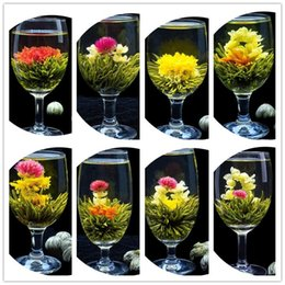 128pcs 16 styles kinds Blooming flower tea leaves Technology Scented tea Art viewing Blossom Flower Process Tea leaves