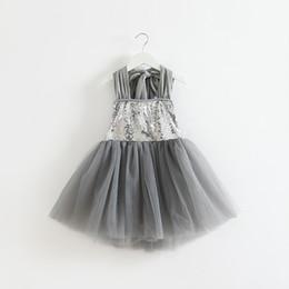 Armarios niños en Línea-Armario bebé! Fiesta de la princesa de las niñas vestido de las niñas vestido dulce mullido infantil de las lentejuelas del vestido de los niños de la chispa Slip ropa del vestido de los niños