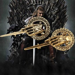 Wholesale 2016 Movie jewelry Game Of Thrones Brooches Vintage Premier Brooch Pins Hand Of The King Ancient Brooch charm badge statement jewelry