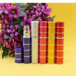 100% 8ml Line New Hot Selling Refillable Portable Mini Perfume Bottle &Traveler Aluminum Spray Atomizer Empty Parfum Bottle Top Quality