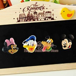 Wholesale Mickey Minnie Donald Duck funny Refrigerator stickers cartoon pvc Fridge magnets Stickers Notes Memo Kids Best Gift