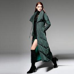 New Fashion 2016 Winter Women Jacket Coat Brand Design Fashion Thickening Warm White Duck Long Down Jacket