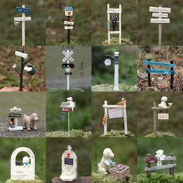 Wholesale 19 Style Zakka Squirrel Dog Mailbox House Figures Action Figure Figurines Groceries Garden Decoration Succulents Plug props Hot