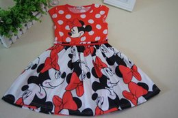 Wholesale Retails New Summer Mickey baby Girls Dress Tutu Princess Baby Minnie Mouse girls Dress Dot Baby Casual Party Dresss baby Dress Y