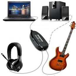 Accessoires audio portables en Ligne-Guitare électrique à interface USB Link Câble audio PC Ordinateur portable Studio d'enregistrement de musique Accessoires guitare avec lecteur CD