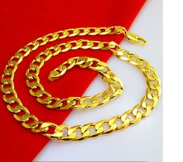Wholesale HOT SALE Men s K gold plated necklace Widening single button wheel chain Tanks blade chain necklace jewelry