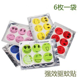 Wholesale Smiling Face Best Mosquito Natural Repellent Patch Insect bug repellent sticker Camping