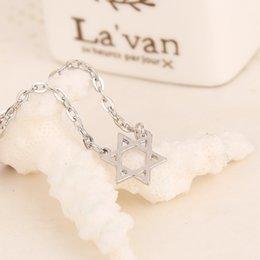 Wholesale 2016 Statemen Hexagonal star collarbone chaint Chain Necklace Set Elegant Alloy Pendant Necklaces For Men and Women ZJ Factor