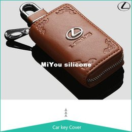 Wholesale Genuine Leather Key Cover for L EXUS Key Fob Holder LS IS RX RX450h Smart Remote Key Case LEXUS Car Black Key Ring