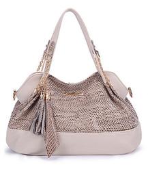 Chaîne grand sac en Ligne-2016 nouvelle mode unique sac à bandoulière snakeskin stria diagonale sequins chaîne sac à main sac à bandoulière sac à bandoulière grand sac PU Livraison gratuite