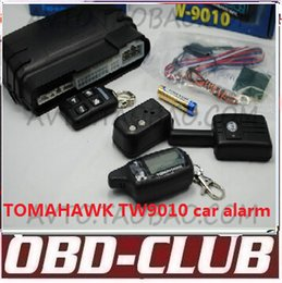 Wholesale 2016 Newest Two way car alarm system TOMAHAWK TW9010 Russian version LCD remote engine starter