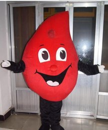 Wholesale Factory direct sale Hot Sale New special customized red Drop of blood mascot costume Cartoon Fancy Dress