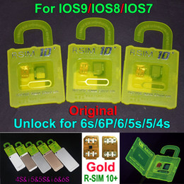 Wholesale NEWEST R SIM10 plus RSIM R SIM R SIM10 For iphone S plus S C G S IOS9 IOS GSM CDMA WCDMA G G G unlock sim R