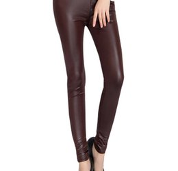 Black Women Leggings Faux Leather High Quality Slim Leggings Plus Size High Elasticity Sexy Pants Leggings big size