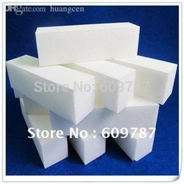 Wholesale-50 Pcs Lot 4 way White Nail Buffer buffering block   Nail file sanding block Wholesale