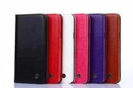 Wholesale Metal Label Tag Leather Wallet Card case Stand Soft Cover For Samsung Galaxy S5 S6 EDGE Plus S7 Note5 Iphone s SE S Plus