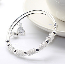 Wholesale Buddha With Bells Silver Bracelet Silver Plated Female Style Elegance