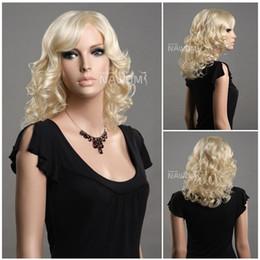 Wholesale women long blond wigs long curly women natural wigs Synthetic fiber of Kanekalon pc ZL