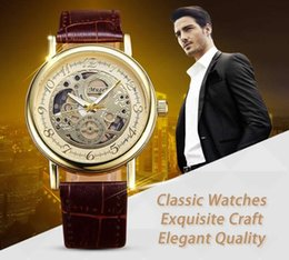 Wholesale Micro business supply fashion star with a double transparent hollow non mechanical Mens watch belt quartz watch