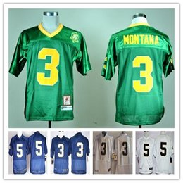 Factory Outlet- Wholesale Notre Dame Fighting Irish 5 Nyles Morgan 3 Joe Montana College Football Jersey Embroidery Logo