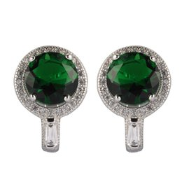 The new product Recommend Noble Generous Best Sellers MN3192D Classic Peridot Cubic Zirconia Shinning Copper Rhodium Plated Fashion Earrings