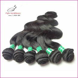 Wholesale Cheap Hair Weave Free Shipping - Cheap Brazilian Hair Weaving Body Wave 100% human hair Color 1b Mix Length 12~30inch 50g bundles, 6pcs lot Express Free Shipping