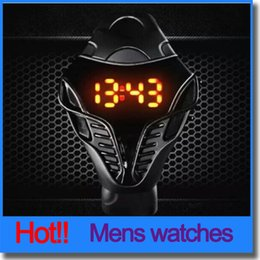 Wholesale Hot Sale Mens Individually Electronics LED Watch Silicone Strap Plastic Watchcase Snake Shape Wrist Watches For Men Women