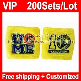 VIP Price 100% NEW Top Quality Yellow NICE VIP422 Light yellow wristbands sweatbands wristband sweatband Factory yellow onlie store!