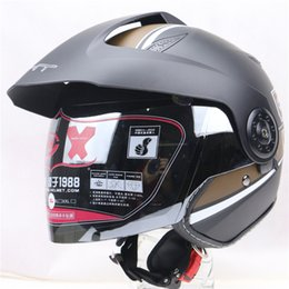 Wholesale glass open face motorcycle helmet with fast quick buckle DOT ECE approved helmet removable and washable liner XHT helmet
