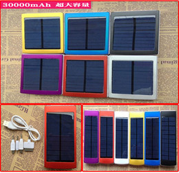 Dual USB Solar Battery Chargers High Capacity 30000mAh Portable Solar Energy Panel Charger Power Bank For Mobile Phone PAD Tablet MP4 Laptop