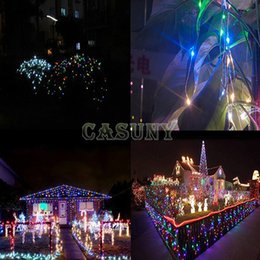 Wholesale-12V 10M 100 LED outdoor patio led copper wire string lights RGB LED lights Xmas party outdoor wedding