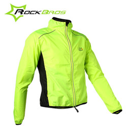 Wholesale ROCKBROS Tour de France Cycling Men s Riding Breathable Reflective Jersey Cycle Clothing Long Sleeve Wind Coat Jacket Color