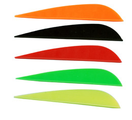 """100 PK high quality plastic 3 inches arrow vane 3"""" arrow feather for compound bow hunting"""