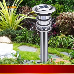 Wholesale-Solar lawn light garden lights stainless steel garden lamp outdoor lighting induction lamp strightlightsstreetlights
