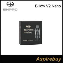 Billow v2 à vendre-100% d'origine Ehpro Ehpro Bulow V2 Nano Atomiseur RTA 3,2 ml en verre pyrex réservoir noir en acier inoxydable par EHPRO et Eciggity atomiseur