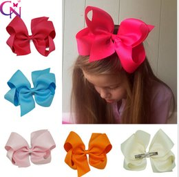 Wholesale quot Solid Hair Bow With Clip Ribbon Hair Bow Hair Clip For Baby Girls Boutique Hair Bow
