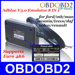 Wholesale New ADblue In With Programming Adapter AD Blue Emulator Truck V3 NOX Sensor Emulator For ford and Other Brands Truck