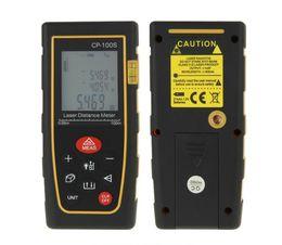 Wholesale Handheld Laser Distance Meter Measurer M ft Digital LCD Laser Distance Meter Range Finder Measure Diastimeter CP S Yellow