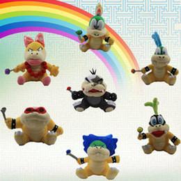 Super Mario poupées en peluche jouets Wendy / Larry / Lemmy / Ludwing / O. Koopa Peluche Sanei 8