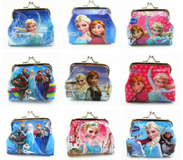 Wholesale Frozen Elsa Anna Girls Kids Coins Boxes Purse Money Pouch Bag Cartoon Wallet Childrens Gift