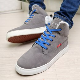 new 2016 hot sale and high quality super warm winter cotton shoes British style high-top shoes 3 colors N71size 39-44