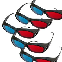 Wholesale Universal type D glasses Red Blue Glasses Cyan Anaglyph vision D stereo glasses Plastic for Plasma TV Game Movie