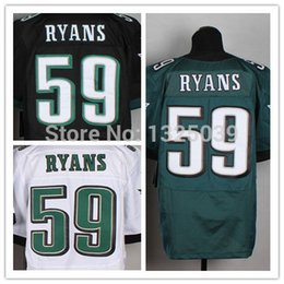 Wholesale Factory Outlet DeMeco Ryans Jersey Black Green White Men s Elite Football Jersey New Best Quality Embroidery Logo Size M XL