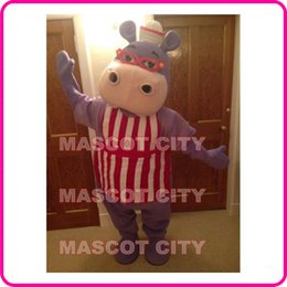 Wholesale MASCOT CITY Anime cosply Costumes Hallie Doc Mcstuffins Mascot Costume Adult Carnival Fancy Dress Kits Hippo Mascotte Mascota SW1549