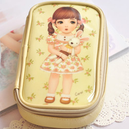 Wholesale Mini Beauty Girls Doll Baby Handbag Women Cosmetic Bags Cases Travel Package Storage Bag Toiletries Kits Bag Cosmetic Bag