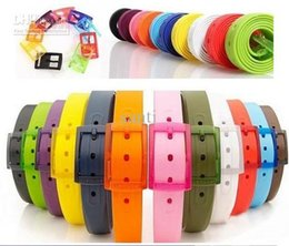 Wholesale Colors Neon Candy Coloured Scented Jelly Adult Fashion Silicone belt candy Width CM