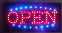 Wholesale 2016 hot selling led open sign eye catching hanging a chain semi outdoor size inch