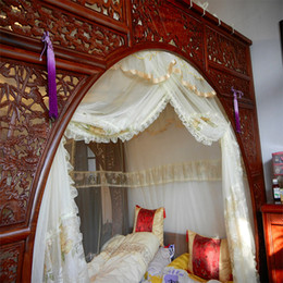 Wholesale Custom luxury custom fit antique bed nets mosquito net canopy bed Korean classical bed nets mantle Continental