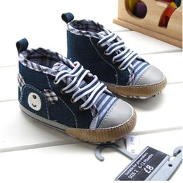 Wholesale Straps canvas soft bottom tile blue male baby shoes welcome to the shoe store pair cl